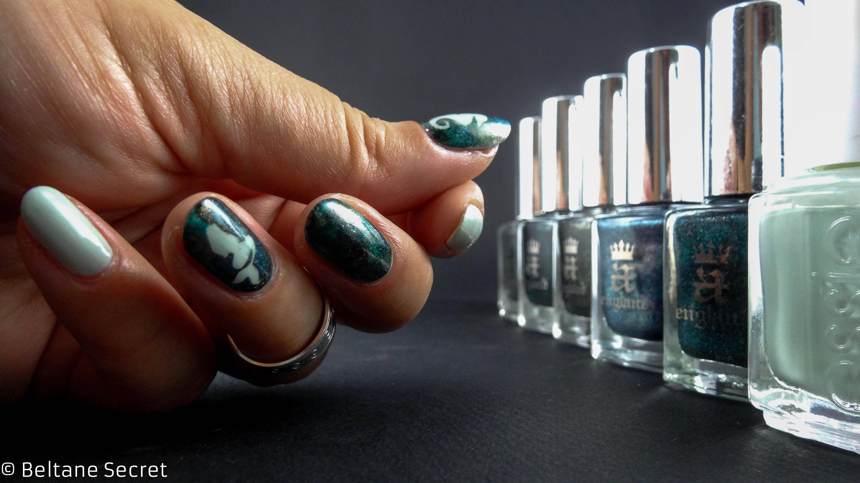 nail art aquatique